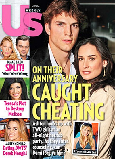 US Weekly: Ashton Kutcher Cheated On Demi Moore with Two Girls in a Hot Tub