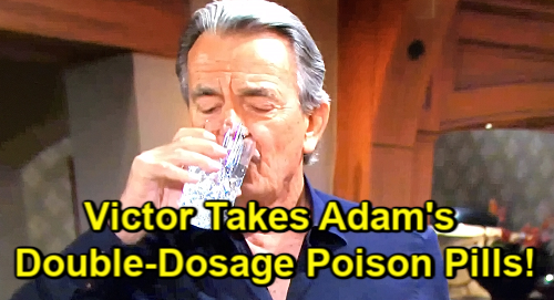 The Young and the Restless Spoilers: Friday, September 6 Review - Victor Takes Double-Dose Pills - Chance Contesting Katherine's Will
