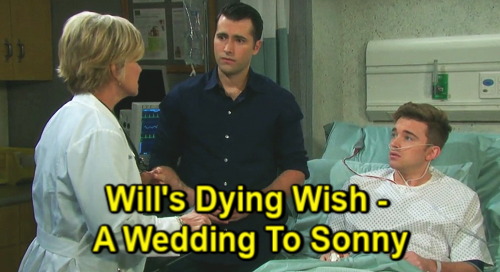 Days Of Our Lives Spoilers: Will Horton (Chandler Massey) - Sonny Kiriakis (Freddie Smith) - Kayla Brady (Mary Beth Evans)