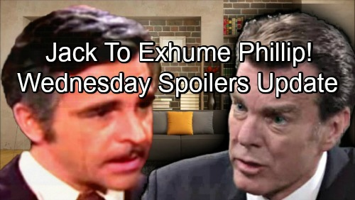 The Young and the Restless Spoilers: Wednesday, June 20 Update – Jack Wants to Exhume Phillip's Body – Mysterious Threat Rattles Victor
