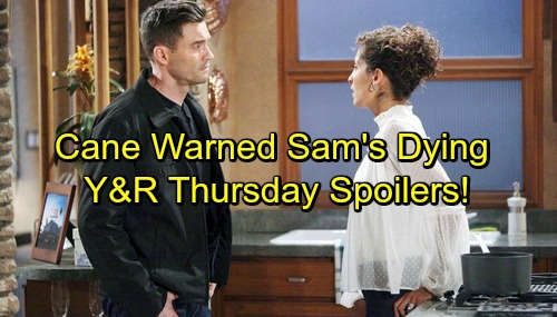 The Young and the Restless Spoilers: Thursday, November 30 - Cane Told Prepare For Sam To Die – Ashley and Gloria Face Off