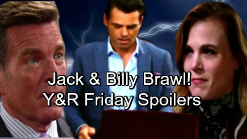 The Young and the Restless Spoilers: Friday, May 25 – Jack and Billy Brawl – Abby's Bold Move – Devon and Hilary Get Steamy