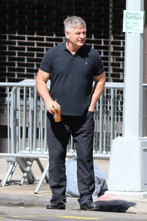 Alec Baldwin and Hilaria Baldwin Look Strained During Their Walk