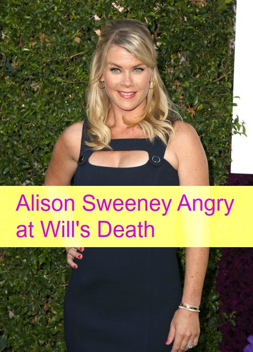 Days of Our Lives Spoilers (DOOL): Alison Sweeney Angry at Will's Death, Says Killing Off Sami's Son a 'Big Mistake'