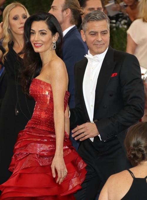 George Clooney's Wife, Amal Alamuddin, Defends Muammar Gaddafi's Son and Spy Chief