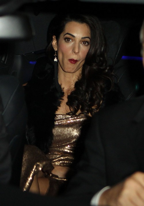 Amal Alamuddin Weight Loss Anorexic Extreme Dieting Rumors: Insecure About Appearance Since George Clooney Wedding (PHOTOS)