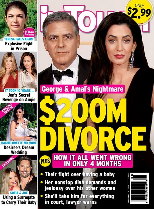 George Clooney and Amal Alamuddin Divorce: Baby Battle As Jealous Diva Fighting With New Husband In $200 Million Split?