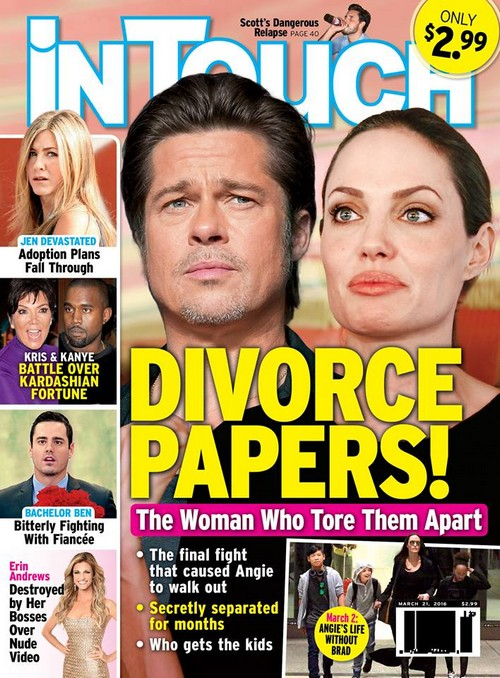 Angelina Jolie Divorce: Brad Pitt's Relationship With Marion Cottilard Driving Angie Mad With Jealousy?