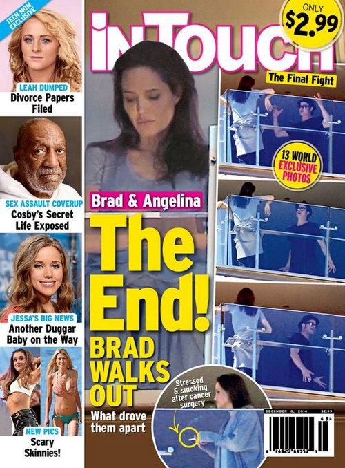 Brad Pitt Fighting With Angelina Jolie About Cigarette Smoking and Cancer: Angie's Health at Risk! (PHOTO)