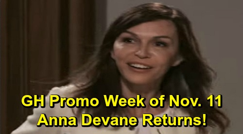 General Hospital Spoilers: Week of November 11 Preview - Anna Surprises Finn and Hayden - Jax Furious at Nikolas - Alexis Deadly Sick