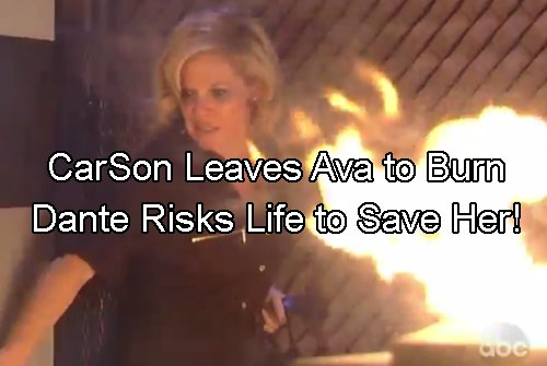 General Hospital Spoilers: Sonny And Carly Leave Ava to Burn on the Docks – Dante Saves Her, Angry at Father