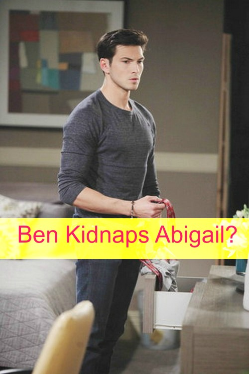 Days of Our Lives (DOOL) Spoilers: Abigail Doubts Chad's Guilt, Sees Ben's Dark Side – Enraged Ben Takes Abigail Hostage?