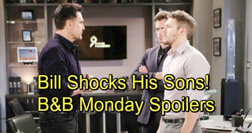 The Bold and the Beautiful Spoilers: Monday, November 19 - Ridge Warns Brooke About Bill - Bill Shocks Liam and Wyatt