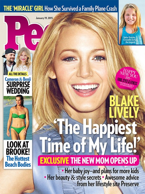Blake Lively Covers 'People'; Talks Motherhood And Happiness