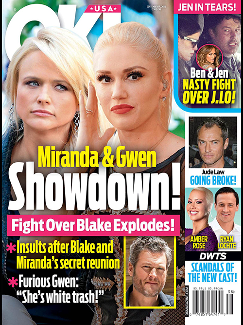 Gwen Stefani Explodes On Miranda Lambert For Making Amends With Blake Shelton: Stay Away From My Man! (PHOTO)