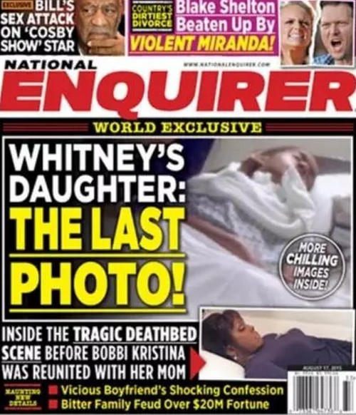 See Sad Bobbi Kristina Brown Death Photo Revealed by National Enquirer - Deathbed Pic, NOT Dead in Coffin Picture