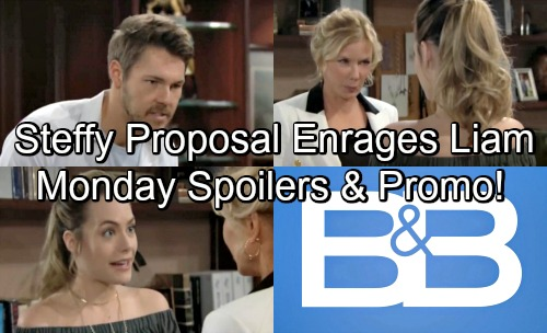The Bold and the Beautiful Spoilers: Monday, August 6 – Liam Scolds Steffy Over Hope Proposal – Brooke Thrilled Over Engagement News