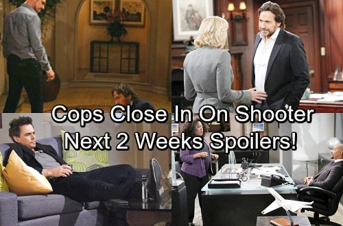 The Bold and the Beautiful Spoilers for Next 2 Weeks: Detective's Close In On Bill's Shooter - Wyatt and Justin Prime Suspects