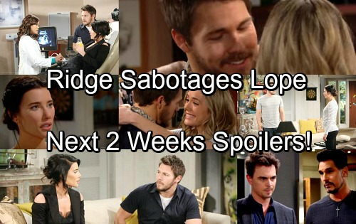 The Bold and the Beautiful Spoilers for Next Two Weeks: Ridge Sabotages Hope and Liam – Bill's Cruel Plan to Win Steffy's Heart