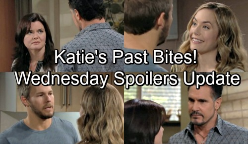The Bold and the Beautiful Spoilers: Wednesday, August 29 Update - Hope Has Steffy's Doc - Bill Threatens Katie With Alcoholic Past