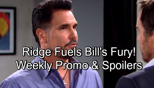 The Bold and the Beautiful Spoilers: Shocking Promo Week of September 17 – Bill's Custody Fight Gets Fierce, Ridge Fuels the Feud