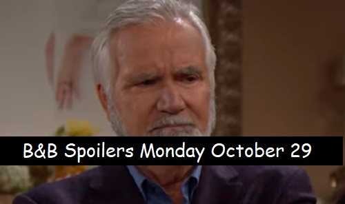 The Bold and the Beautiful Spoilers: Monday, October 29 – Bill's Request Shocks Brooke – Quinn Pushes Frustrated Eric to His Limit