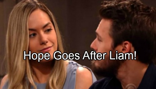 The Bold and the Beautiful Spoilers: Desperate Hope Goes After Liam Again – Won't Give Up Lope Dream