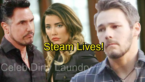 The Bold and the Beautiful Spoilers: Steam Lives - Liam's Indecision Works To Steffy's Advantage For Once