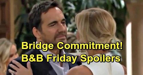 The Bold and the Beautiful Spoilers: Friday, December 28 - Hope Arrives In Catalina, Liam's Stuck Behind - Ridge Commits to Brooke