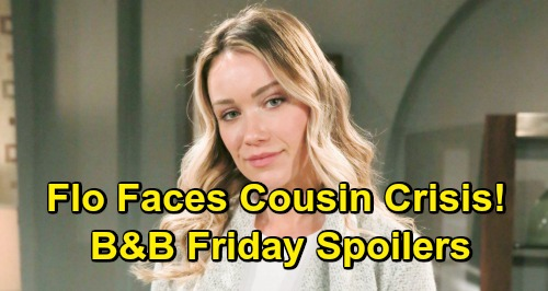 The Bold and the Beautiful Spoilers: Friday, April 12 - Flo Faces Cousin Hope Baby Heartache and Guilt