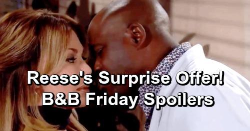 The Bold and the Beautiful Spoilers: Friday, January 11 - Reese Shows Taylor How Much He Cares - Brooke Sets Bill Straight