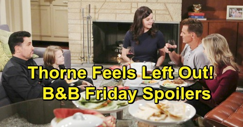 The Bold and the Beautiful Spoilers: Friday, January 18 - Hope's Sad Meltdown Spirals - Thorne Feels Left Out