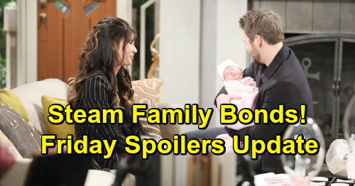 The Bold and the Beautiful Spoilers: Friday, February 1 Update – Hope Gets a Steam Warning – Guilty Flo Frets