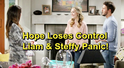 The Bold and the Beautiful Spoilers: Hope Spirals Out of Control After Meeting Phoebe - Dangerous Behavior Panics Liam and Steffy