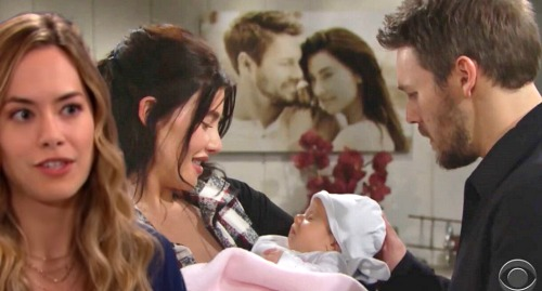 The Bold and the Beautiful Spoilers: Hope Resents Steffy's Adoption – Fears New Baby Will Draw Liam Back To Steam