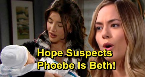 The Bold and the Beautiful Spoilers: Hope Holds Steffy's Baby Girl For First Time – Suspects Phoebe Is Beth?