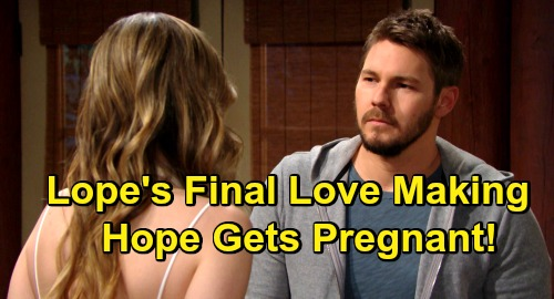 The Bold and the Beautiful Spoilers: Liam and Hope Make Love One Last Time – Leads To Another Lope Pregnancy?