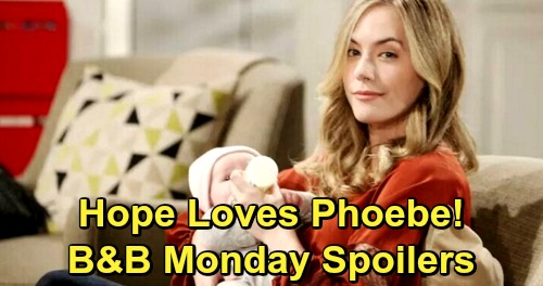 The Bold and the Beautiful Spoilers: Monday, February 4 - Hope Finds Phoebe Irresistible - Zoe Stunned By Reese's Plan