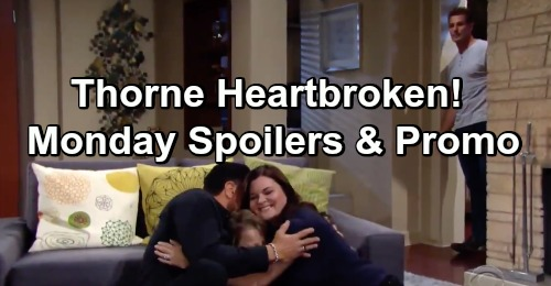 The Bold and the Beautiful Spoilers: Monday, January 21 - Thorne Heartbroken, Remembers Darla - Hope and Liam Struggle With Grief