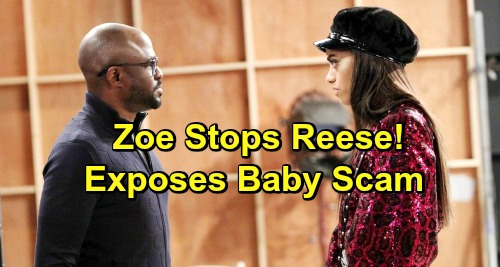 The Bold and the Beautiful Spoilers: Zoe's Suspicions Thwart Reese's Plans To Leave LA - Meddling Daughter Exposes Baby Scam