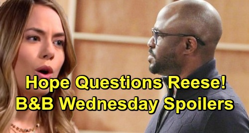 The Bold and the Beautiful Spoilers: Wednesday, January 30 - Ridge Welcomes New Family Addition - Hope Demands Answers From Reese