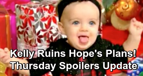 The Bold and the Beautiful Spoilers: Thursday, December 27 Update – Kelly's Fever Ruins Hope's Babymoon – Zoe in Grave Danger