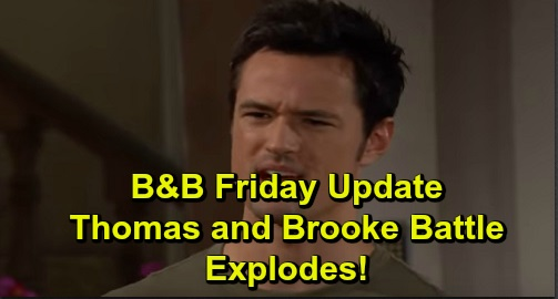 The Bold and the Beautiful Spoilers: Friday, September 27 Update – Thomas and Brooke's Battle Explodes – Vinny's Shocking Discovery