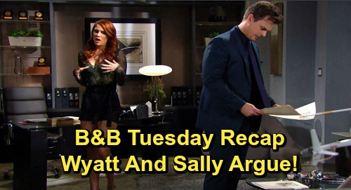 The Bold and the Beautiful Spoilers: Tuesday, December 3 Recap - Shauna's Optimistic - Eric Cautions Ridge - Wyatt & Sally Argue