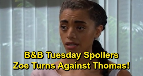 The Bold and the Beautiful Spoilers: Tuesday, December 17 - Thomas Hatches Sneaky New Plan - Zoe's On Board To Help Expose Thomas