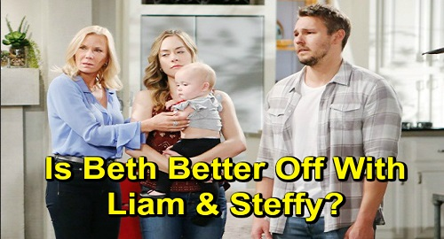 The Bold and the Beautiful Spoilers: Is Beth Better Off with Liam & Steffy or Hope & Thomas – Custody Battle Brewing?