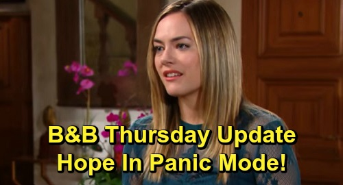The Bold and the Beautiful Spoilers: Thursday, November 7 Update – Panic Brewing for Hope, Thomas Revs Up Demands – Ridge Leans on Shauna