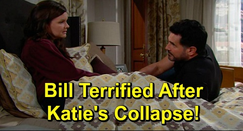 The Bold and the Beautiful Spoilers: Friday, September 20 Update – Bill Terrified After Katie Collapses in Pain – Ridge's Dangerous Vow
