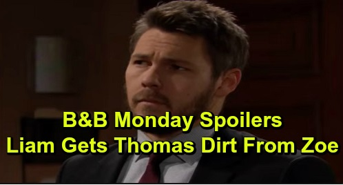 The Bold and the Beautiful Spoilers: Monday, December 16 - Steffy & Liam Find Zoe, Who Spills Dirt On Thomas - Brooke Hopes For Reconciliation With Ridge