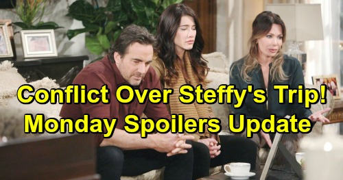 The Bold and the Beautiful Spoilers: Monday, March 18 Update – Conflict Over Steffy's Trip  – Hope Rescues Douglas' Heart